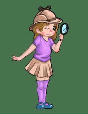 Als een echte detective leren spellen